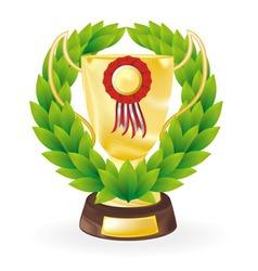 trophy wreath vector image