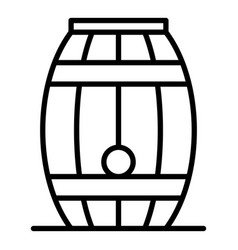 wood whiskey barrel icon outline style vector image
