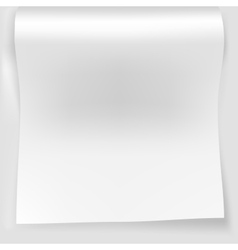 Blank white sheet of curved vector image vector image