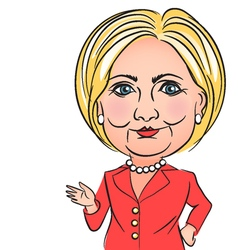 caricature of Hillary Clinton vector image
