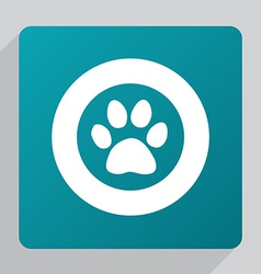 flat cat footprint icon vector image vector image