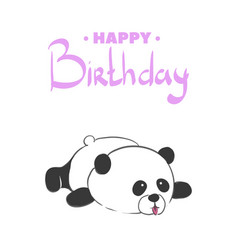 happy birthday bear vector image vector image