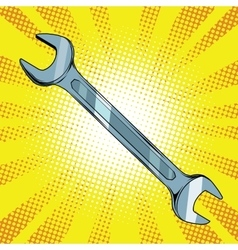 wrench steel tool vector image