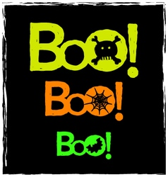 halloween boo neon graphics on a black background vector image