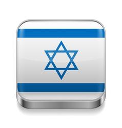 Metal icon of Israel vector image vector image