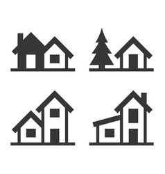 home icons set for real estate logo vector image