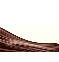 Chocolate wave background vector image vector image