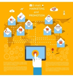 Email marketing concept vector image