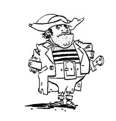 Funny pirate captain vector