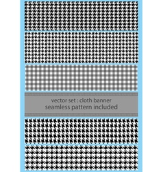 houndstooth fabric banner vector image vector image