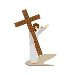 jesus christ comfort girls - via crucis station vector image