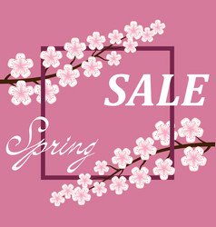 Spring sale poster background vector