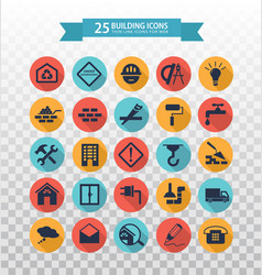 web icons set - construction and home repair tools vector image