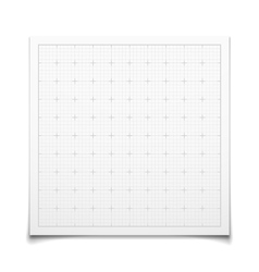 White isolated square grid with shadow vector image