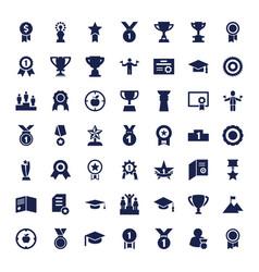 49 achievement icons vector