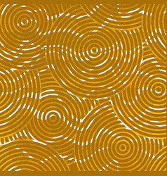 abstract yellow circle seamless pattern vector image