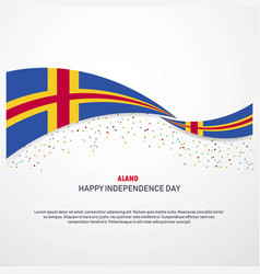 Aland happy independence day background vector