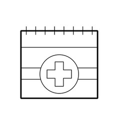 Appointment icon such as medical day calendar vector