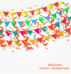 background with garlands vector image