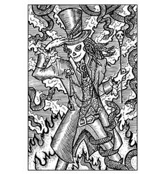 Baron samedi engraved fantasy vector