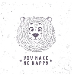 Bear cute doodle vector