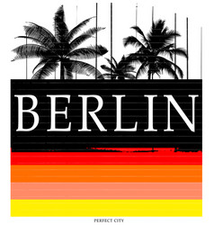 berlin typography tee graphic design vector image