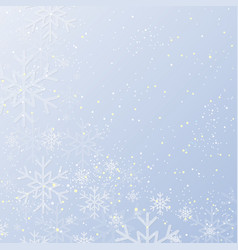 blue banner snowflakes christmas or new year vector image