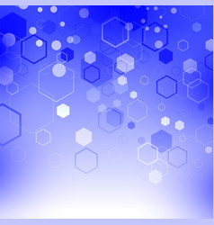 blue technology background with particle vector image vector image