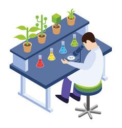Botany experiment vector