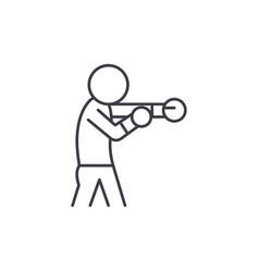 boxer line icon concept boxer linear vector image