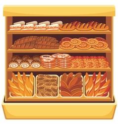 Bread showcase vector