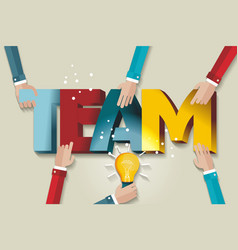 Business team template a symbol of teamwork and vector