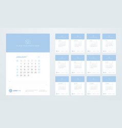 calendar template for 2018 year vector image