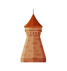 Castle tower element medieval stone fortress vector