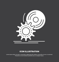 cd disc install software dvd icon glyph symbol vector image
