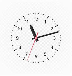 clock face mockup vector image