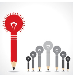 Creative leadership concept with pencil bulbs vector