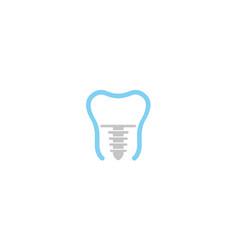 Creative tooth screw logo design symbol vector
