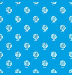 cutlet pattern seamless blue vector image