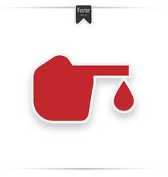 diabetes red icon blood drop to glucose test vector image