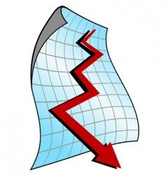 Down graph vector