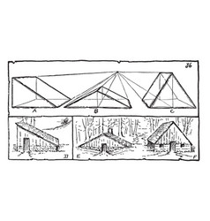 Drawing house forms create the three basic house vector