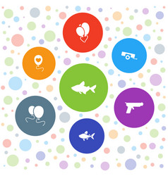 eps10 icons vector image