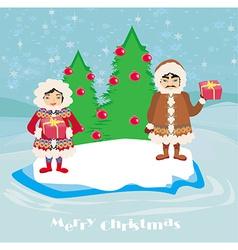 Eskimos holidays vector image