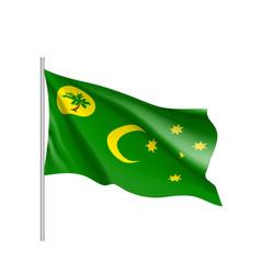 Flag of cocos keeling islands vector