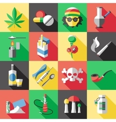 flat drugs icon set vector image