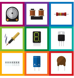 flat icon technology set of memory display vector image