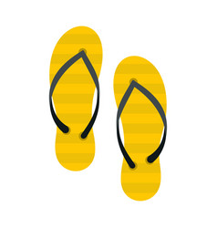 flip flop icon flat style vector image