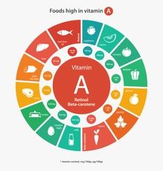 Foods high in vitamin vector