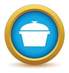 Gold pan icon vector image